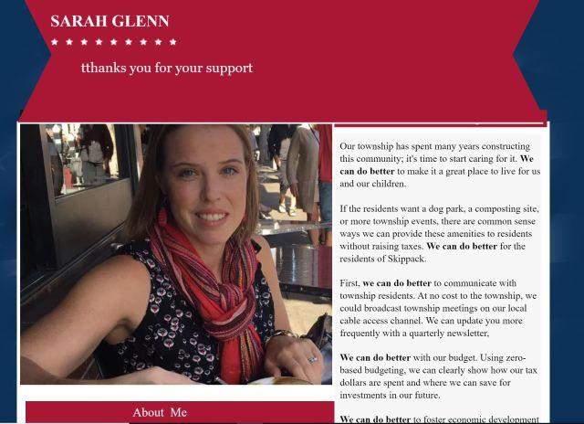 sarah glenn campaign site