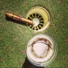 golf cigar beer